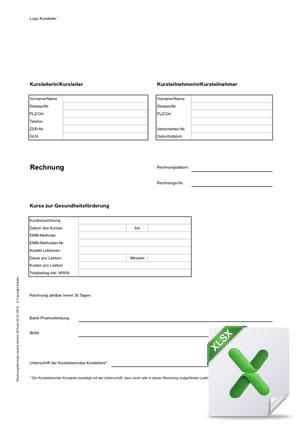 EMfit für Kursleitende – Dokumente – Rechnungsformulare